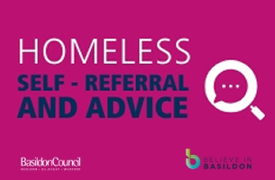 COVID-19 - Homeless self-referral and advice