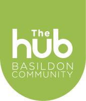 Decorative image showing the  brand logo for the Basildon COVID-19 Community Hub