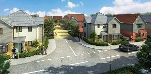 Press release image 30-06-2020 - CGI image of planned new housing at Woodside Place, Basildon
