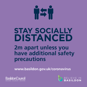 COVID-19 - Stay socially distanced from 4 July campaign image
