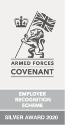 Image showing the Defence Employers' Recognition Scheme Silver Level accreditation 2020