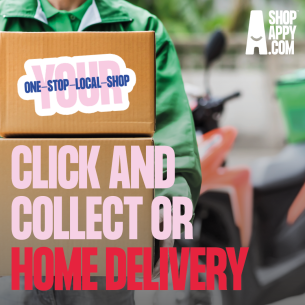 Image promoting local businesses sign-ip to Shop Appy online and clock and collect shopping service