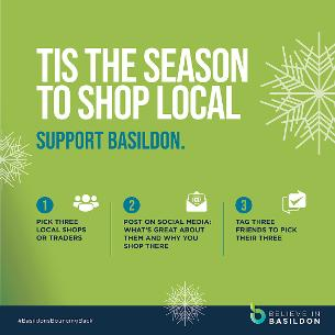 Graphic image about shop local campaign