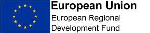 Graphic image: European Union Economic Regional Development Fund landscape colour logo