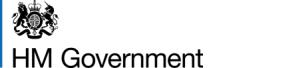 Graphic image: HM Government landscape colour logo