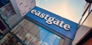Decorative image showing the front sign of Eastgate shopping centre