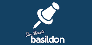 Brand logo of the Our Streets Basildon phone app