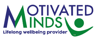 Graphic image shows the Motivated Minds brand logo