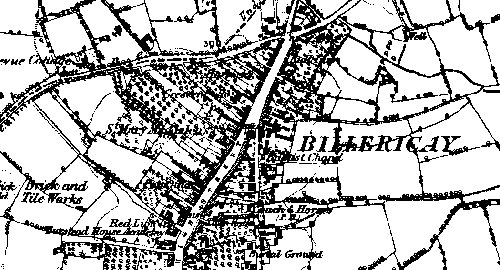 Map of Billericay 1881