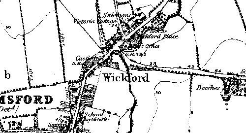 Map of Wickford 1880