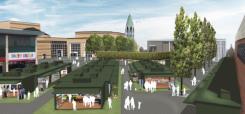 Image showing an artists visualisation of Basildon Market Phase 1 regeneration