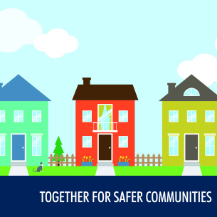 Image showing the Together For Safer Communities brand logo
