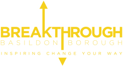 Button image graphic showing the Breakthrough Basildon Borough Logo, links to the Breakthrough Basildon Borough website