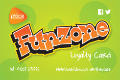 Image showing the Fun Zone Loyalty Card issued by The Place, Pitsea Leisure Centre