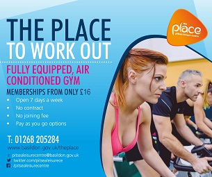 Image promoting The Place Multi-purpose Leisure Centre in Pitsea; the place to work out