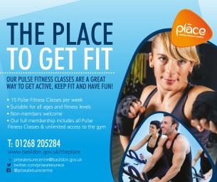 Image promoting The Place Multi-purpose Leisure Centre in Pitsea; the place to get fit