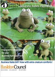 Creature Comforts - Direct Debit campaign for Business Rates