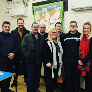 Representatives from the Safer Basildon Partnership with members of Parsol Residents Association and EST ESafety Training