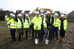 Basildon councillors and representatives of Basildon Council, Sempra Homes and Jerram Falkus