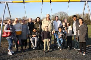 Cllr Kevin Blake with residents and members of Heart of Pitsea