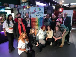 Supporters at the LGBTQI+ History Month event in Colors Nightclub