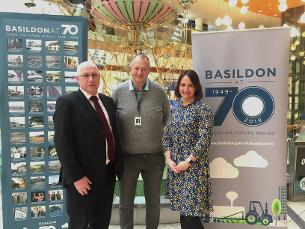 Photo showing Ian Clark, Manager of Eastgate Shopping Centre; Councillor Kevin Blake, Deputy Leader of Basildon Council and Chairman of the Leisure, Culture and Environment Committee; Janine Sole, Marketing Co-ordinator of Eastgate Shopping Centre