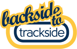 Images showing the Backside to Trackside Brand Logo