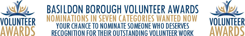 Image promoting Basildon Borough Volunteer Award nominations open