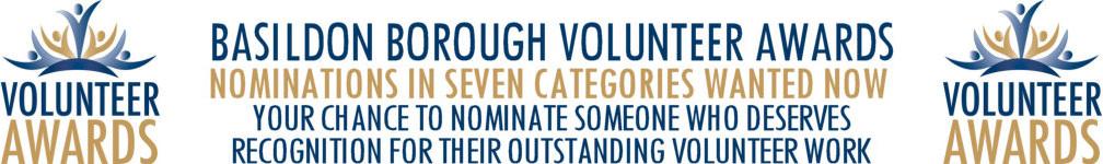 Image promoting Basildon Borough Volunteer Award nominations open