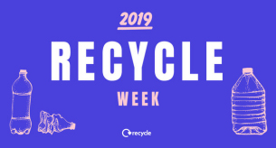 Decorative image promoting national Recycling Week 2019