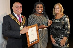 Decorative photo of Rachel Ojo - Sunshine Award Winner - Basildon Volunteer Awards 2019