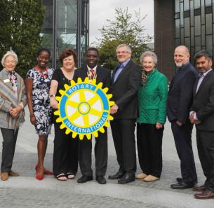Decorative photo image showing Basildon Heroes - Basildon Rotary Club members