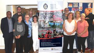 Decorative photo image showing Basildon Heroes - Basildon Twinning Group