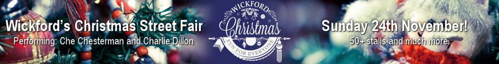 Decorative image advertising Wickford's Christmas Street Fair on Sunday 24th November 2019!