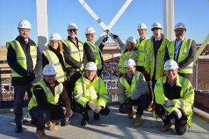 Decorative image showing representatives of Basildon Council, South Essex College and Morgan Sindall Construction
