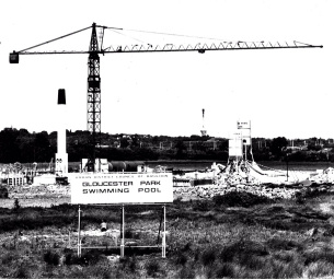 Image showing a Photo of Gloucester Park Swimming Pool, Basildon under contruction in the 1960s from Basildon at 70 Monday Memory contributor Kevin Smith