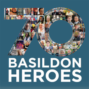 Image promoting Basildon at 70 - Celebrating 70 years with 70 Basildon heroes