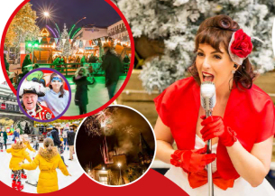 Image showing a photo collage of the Basildon at Christmas event 2019