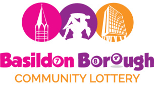 Decorative image showing the Basildon Lottery brand logo