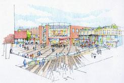 Basildon Town Centre regeneration - East Square and Cinema