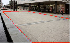 Image of Basildon town centre promotional, trade and event space for hire - Mother and Child Fountain