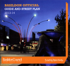 Image showing the front cover of the Basildon Official Guide and Street Plan 2013-2014