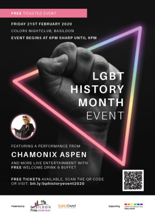 Image advertising: LGBT History Month Event February 2019