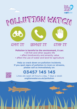 Image showing the Anglian Water - Summer 2017 Pollution Watch Poster