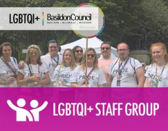 Image - a photo of Basildon Council's LGBTQi+ Staff Group