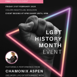 LGBTQI+ History Month event 2019, 'Love Conquers Hate'
